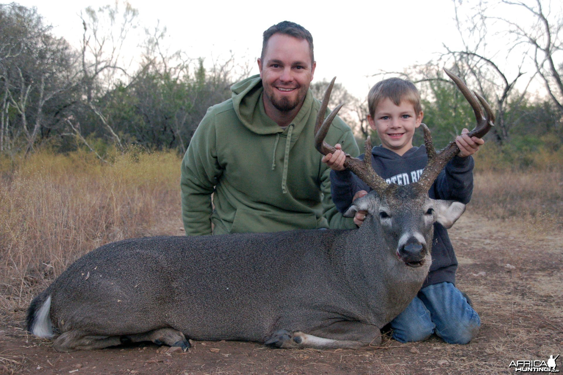My six year old sons first buck