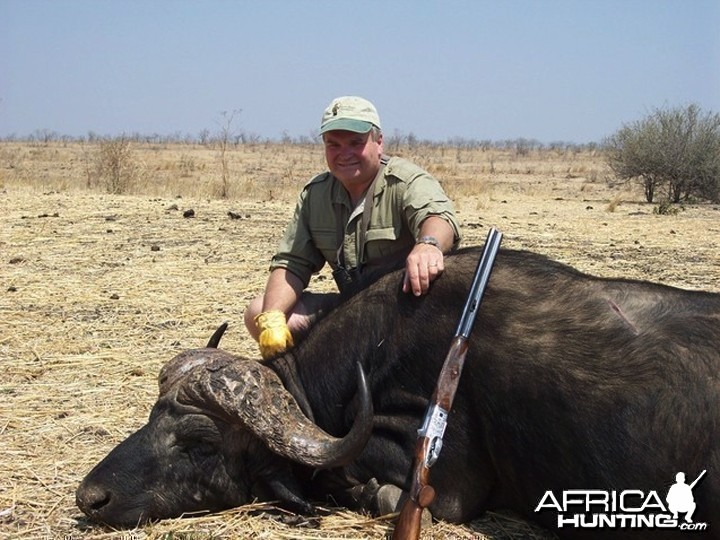 Buffalo hunted in Matetsi Unit 1 Zimbabwe