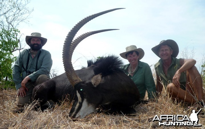 Sable hunted in Matetsi Unit 1 Zimbabwe
