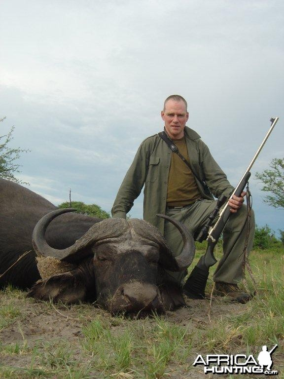 Buffalo hunted in Caprivi Namibia with Van Heerden Safaris