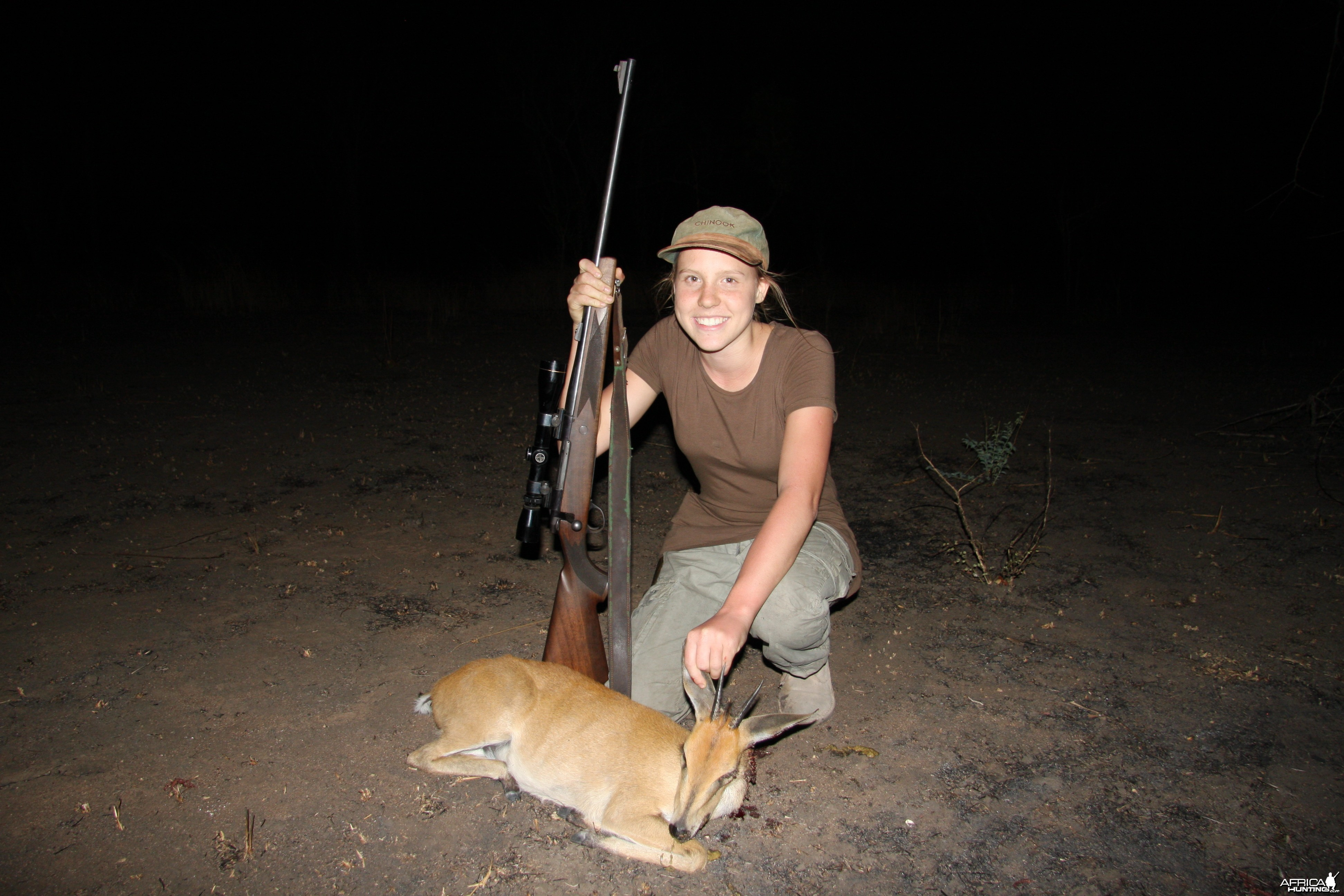 My sisters first animal a duiker