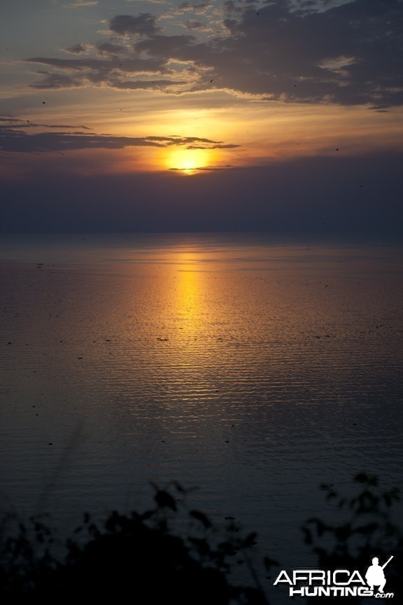 Sunset on Lake Albert Uganda