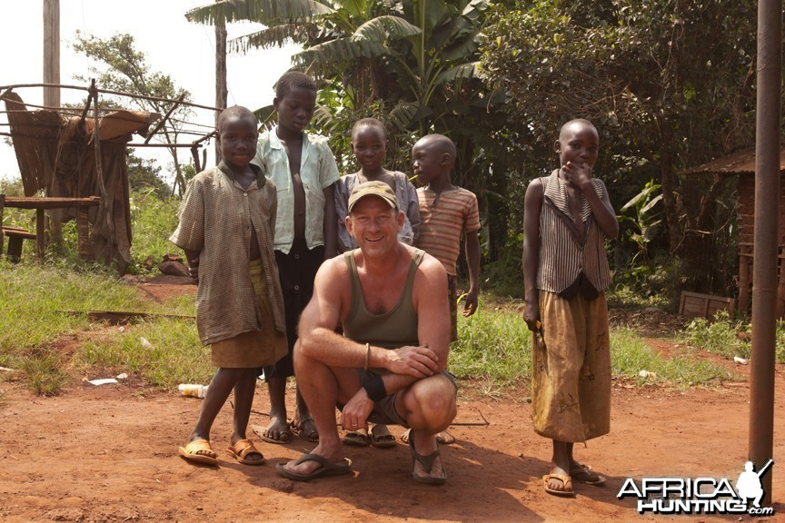 Me with some kids in Uganda