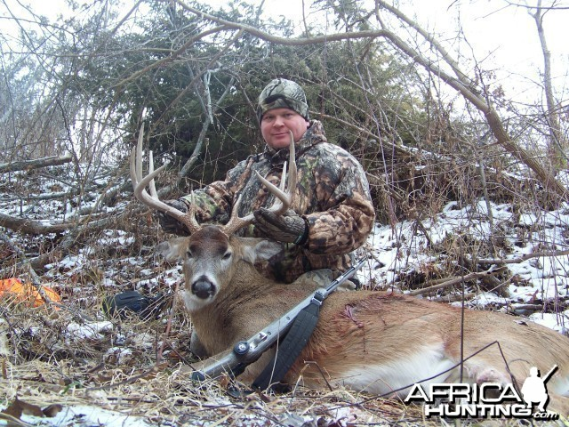 Buck hunted with black powder
