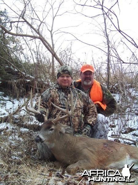 Buck hunted with black powder