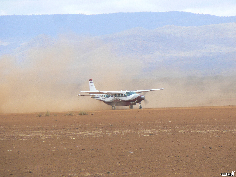 Bush plane Tanzania