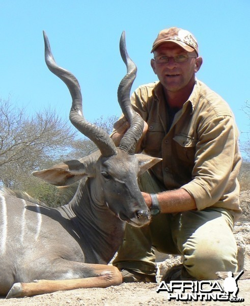"28"" Lesser Kudu hunted in Tanzania"