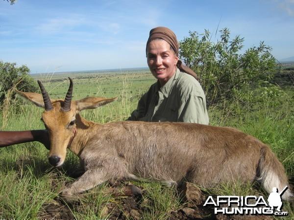 Hunting Chandler's Mountain Reedbuck Uganda