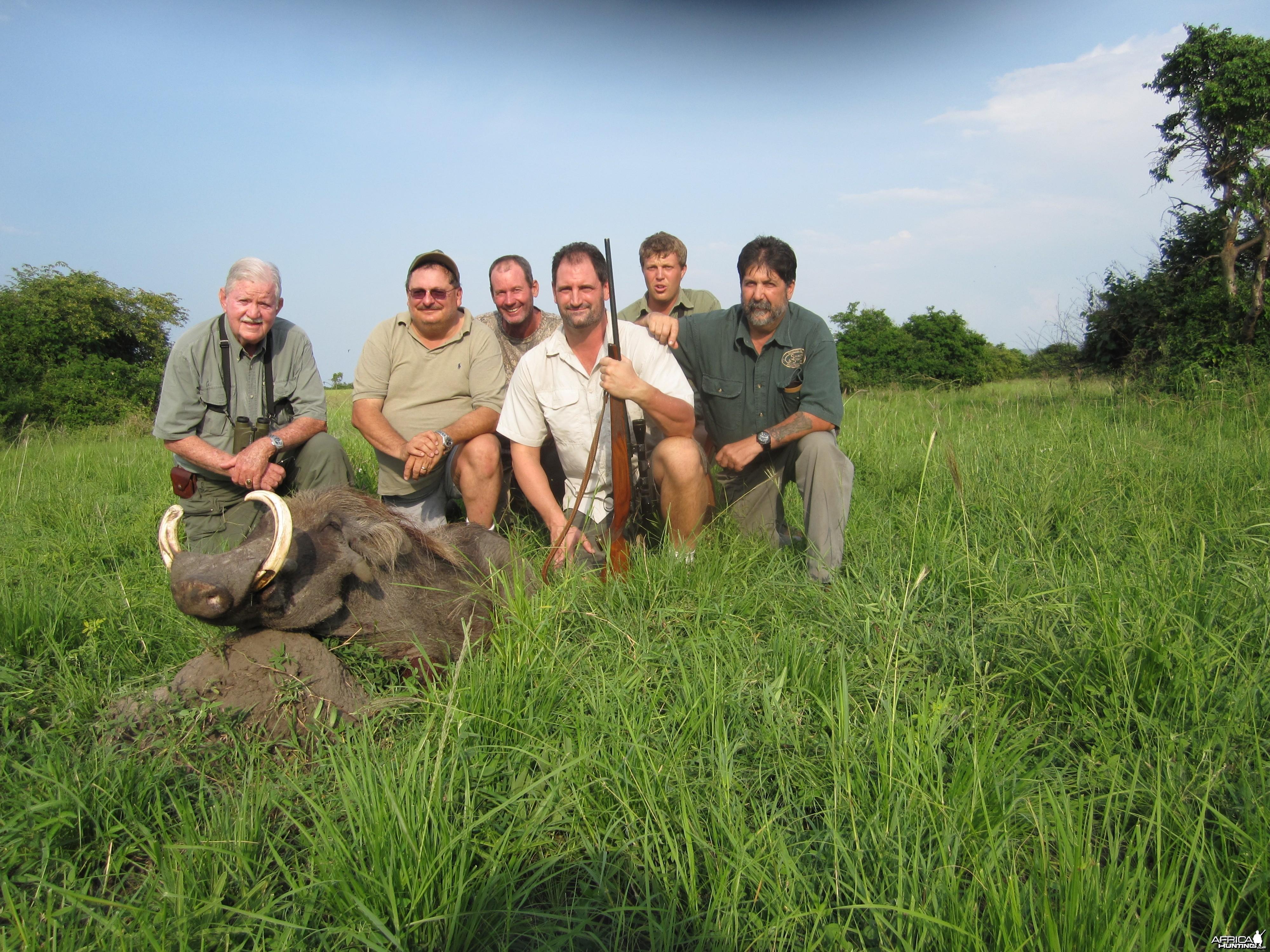 Hunting Warthog in Uganda
