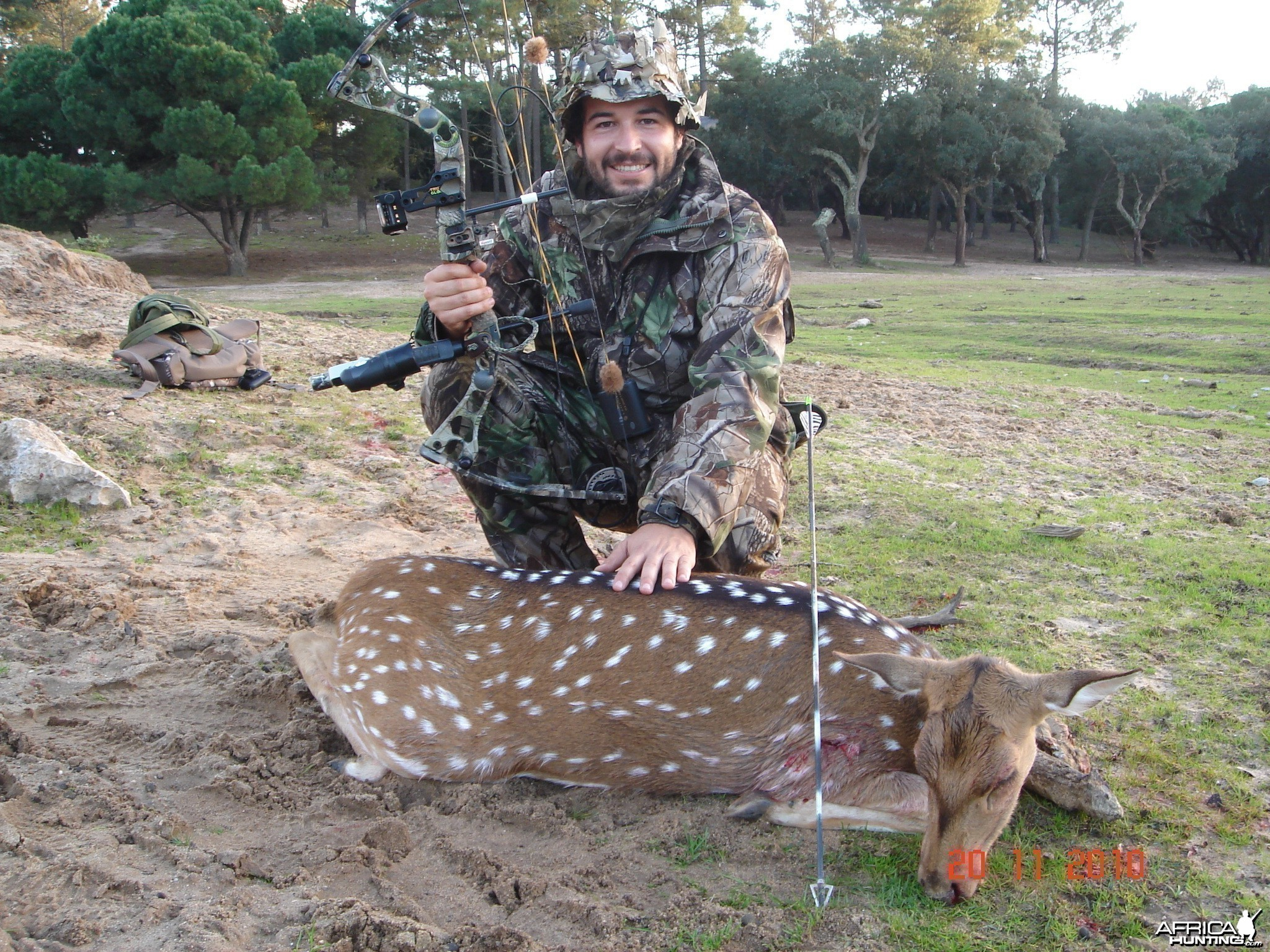 Axis deer bowhunt