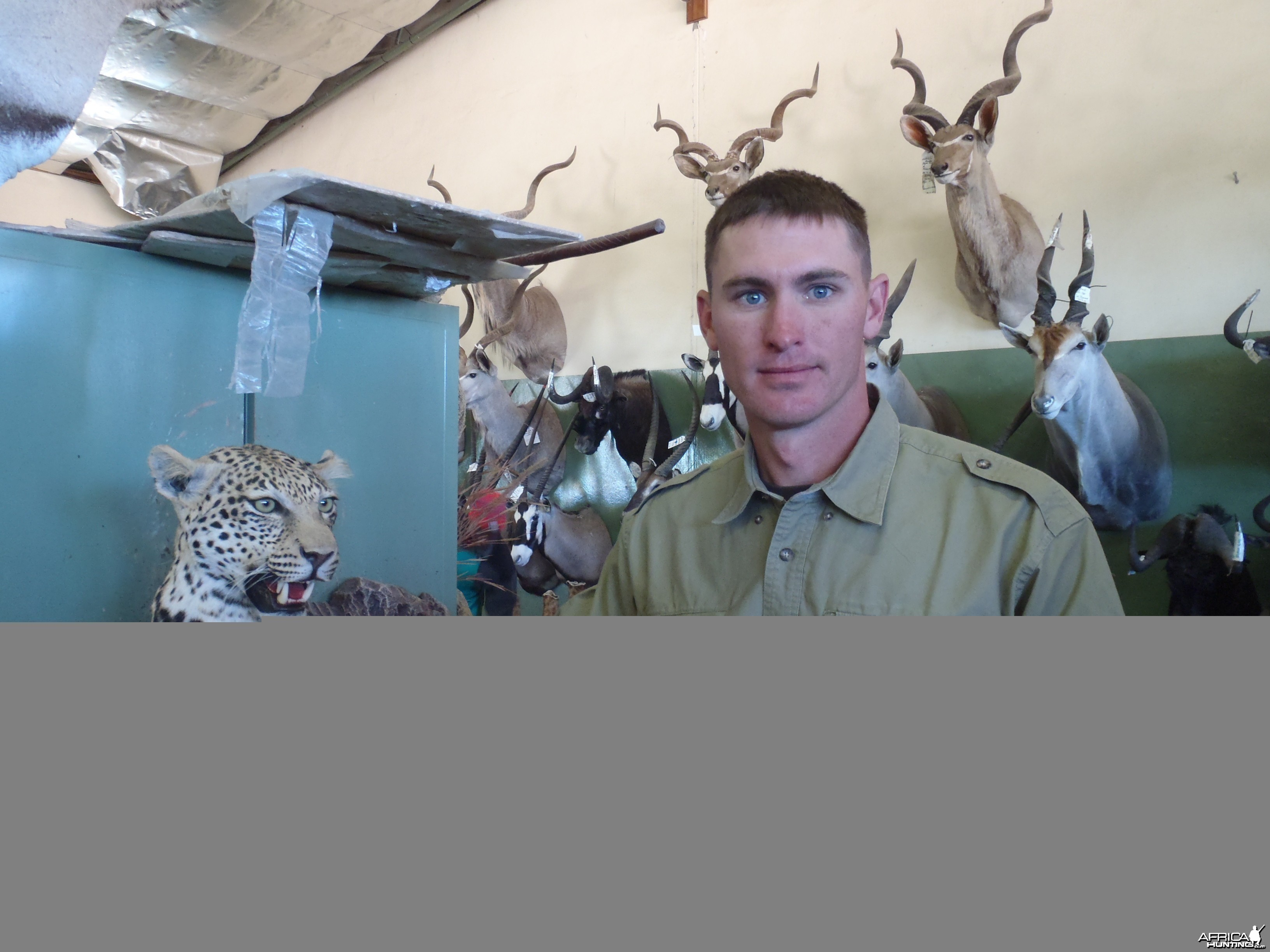 At the taxidermist in Namibia