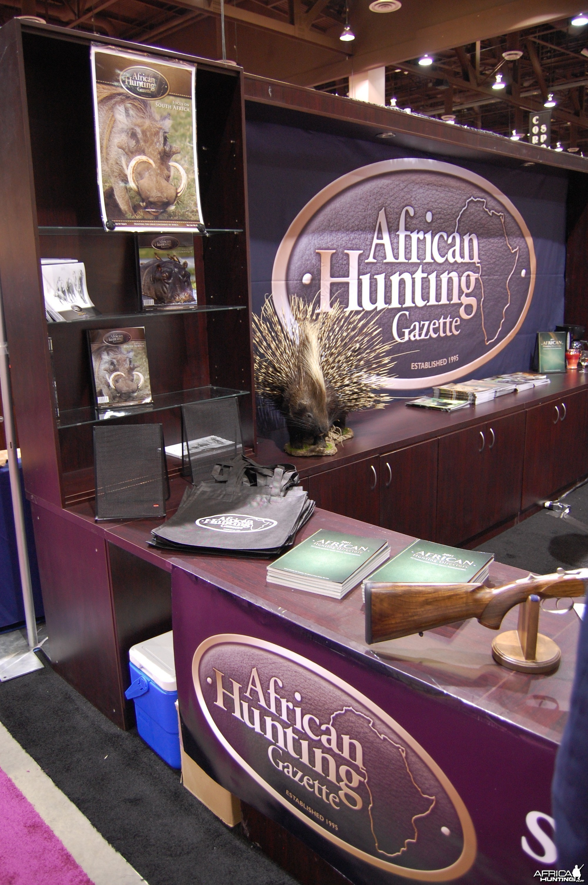 African Hunting Gazette booth at Safari Club Convention 2011
