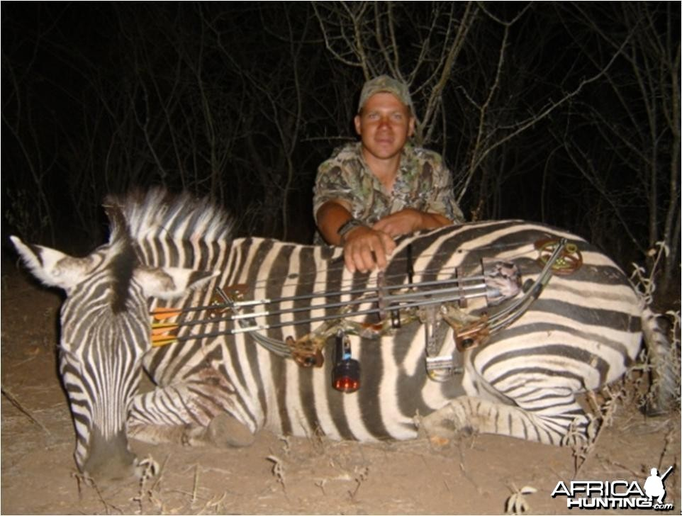 Bowhunting Zebra with Limpopo Big Game Safaris in South Africa