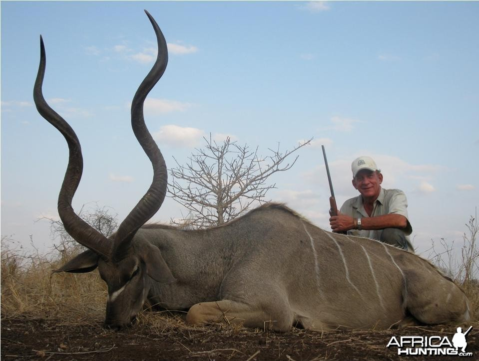 56 inch Kudu hunted in Mozambique