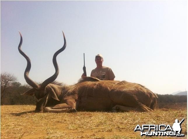 55.5 inch Kudu Hunted in South Africa Limpopo Province