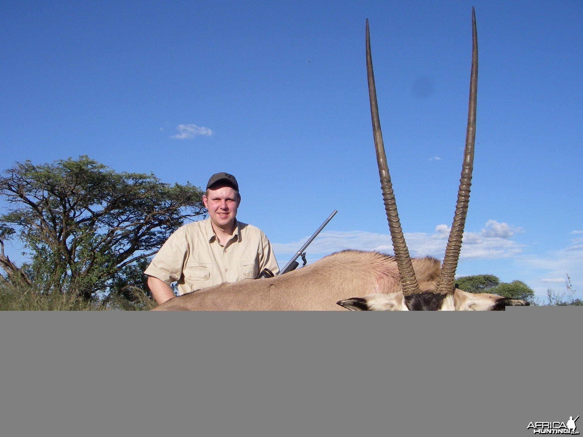 Gemsbok hunted in South Africa