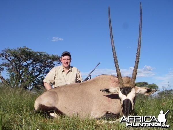 Gemsbok hunted in South Africa