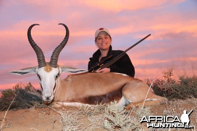 My wifes awesome springbok