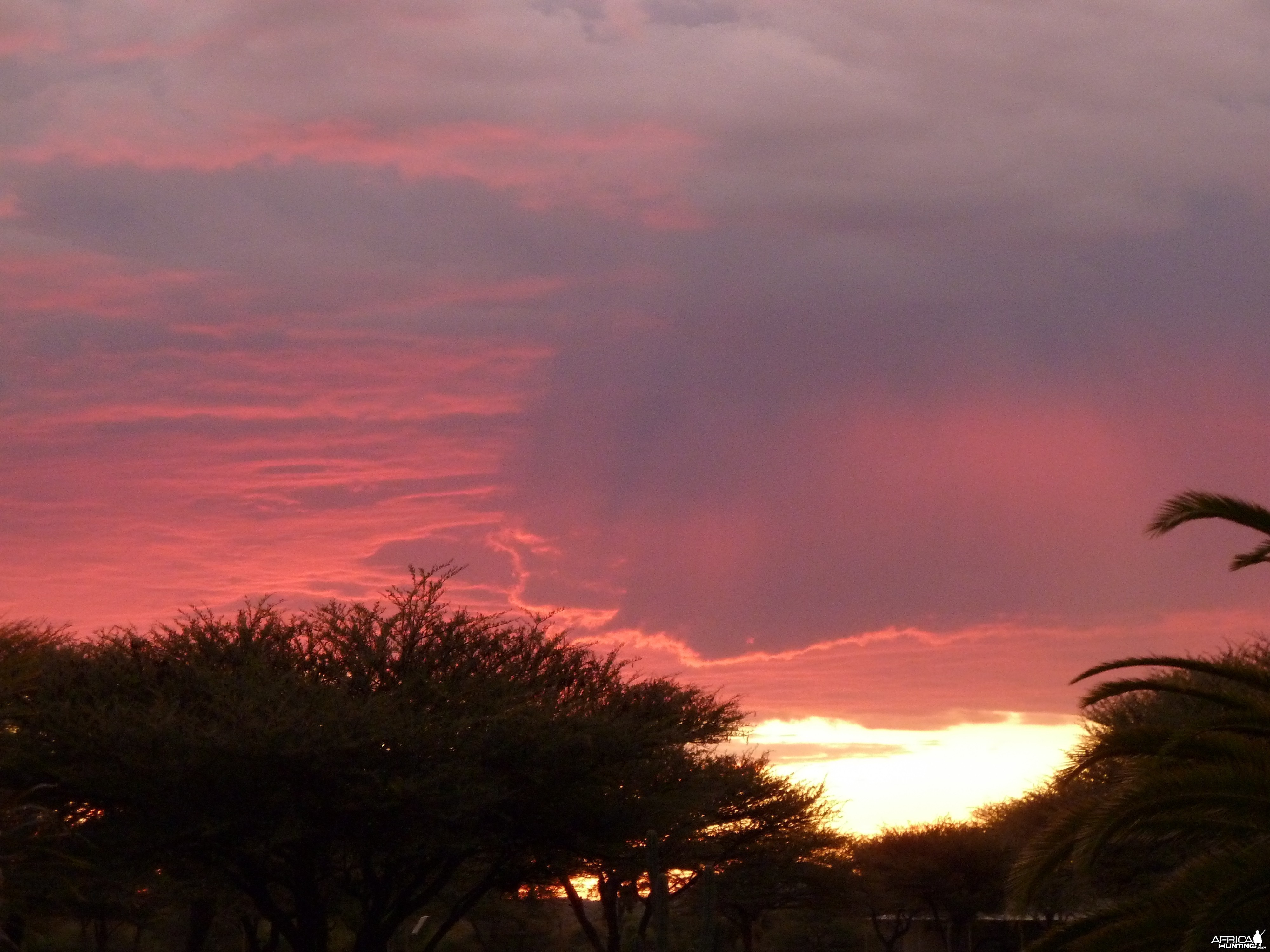 Sunset at Ozondjahe Hunting Safaris in Namibia