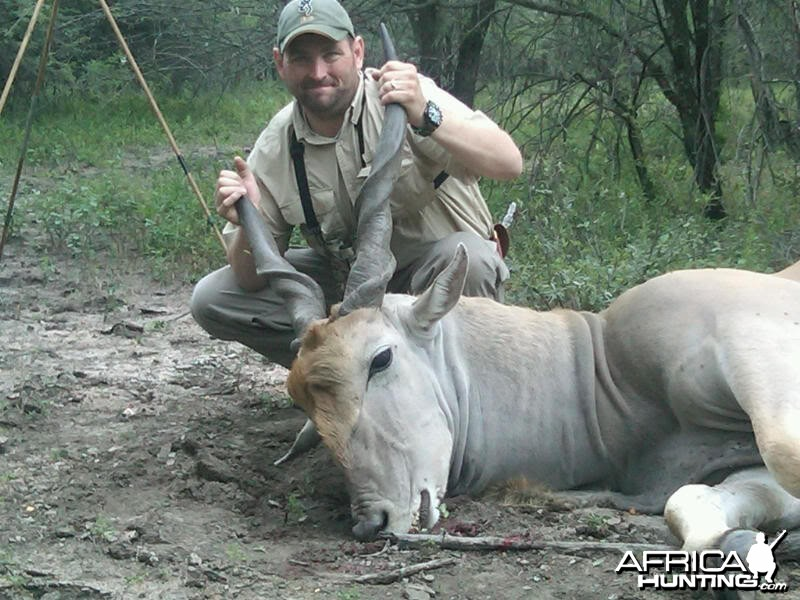 Hunting Cape Eland in Limpopo South Africa 36 1/2 inches