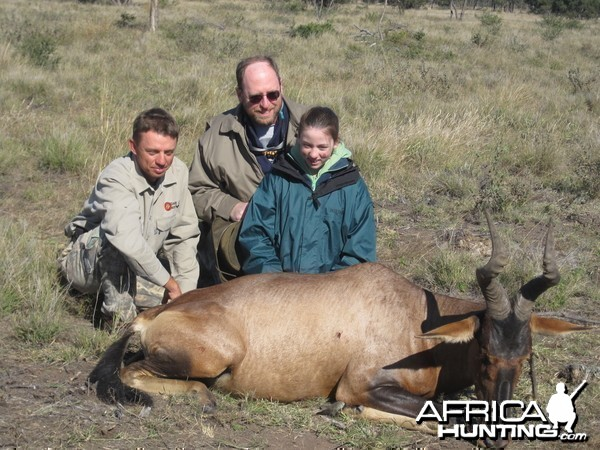 My daughter and her Hartebeest, her first antelope, Limpopo, South Africa