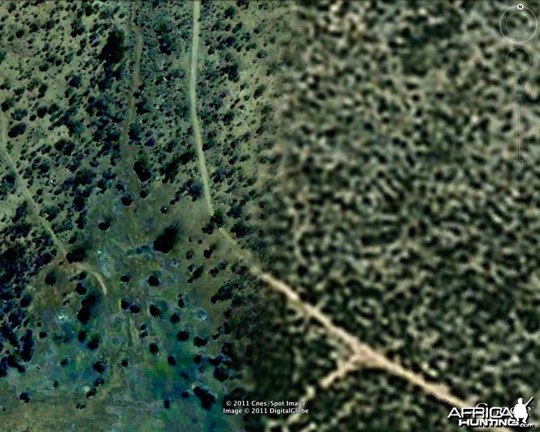 Satellite image from Google Earth