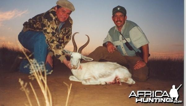 Hunting White Springbok