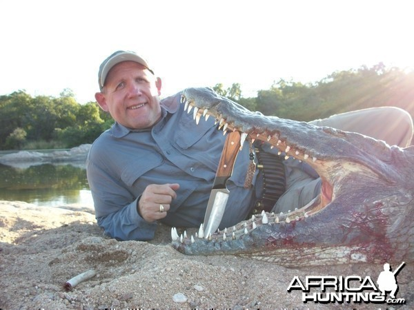 Hunting Croc in Mozambique