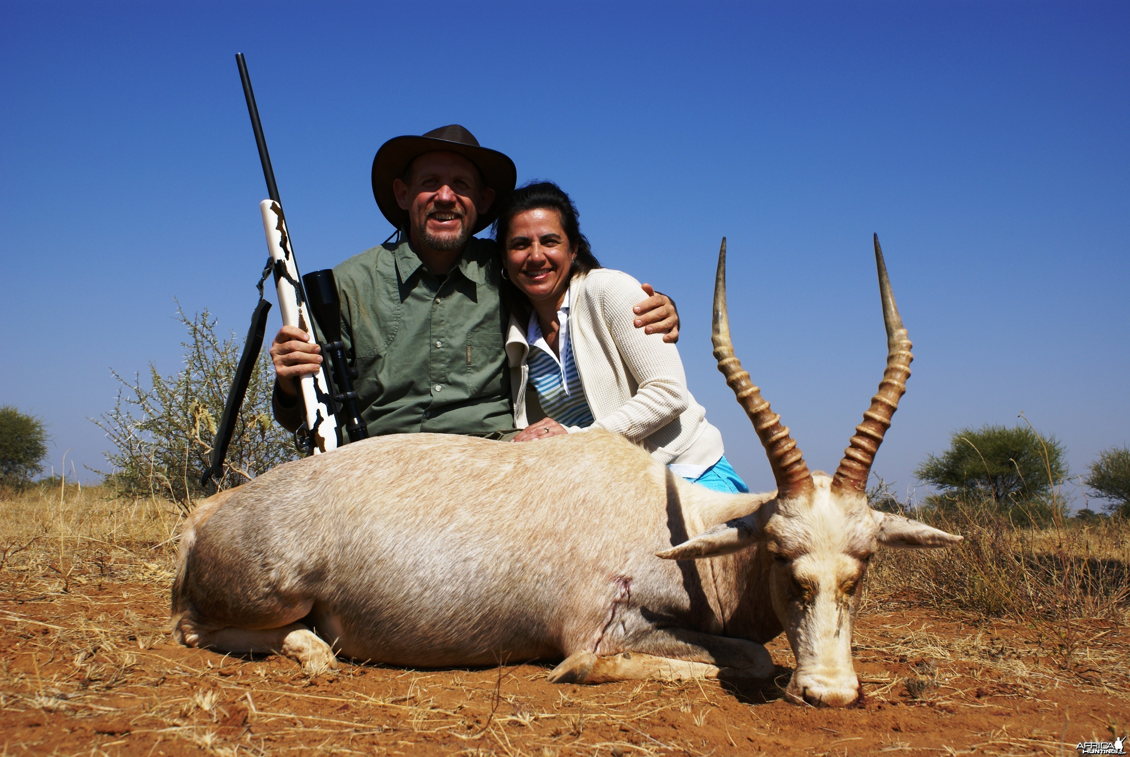 Hunting White Blesbok