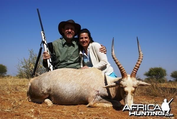 Hunting White Blesbok