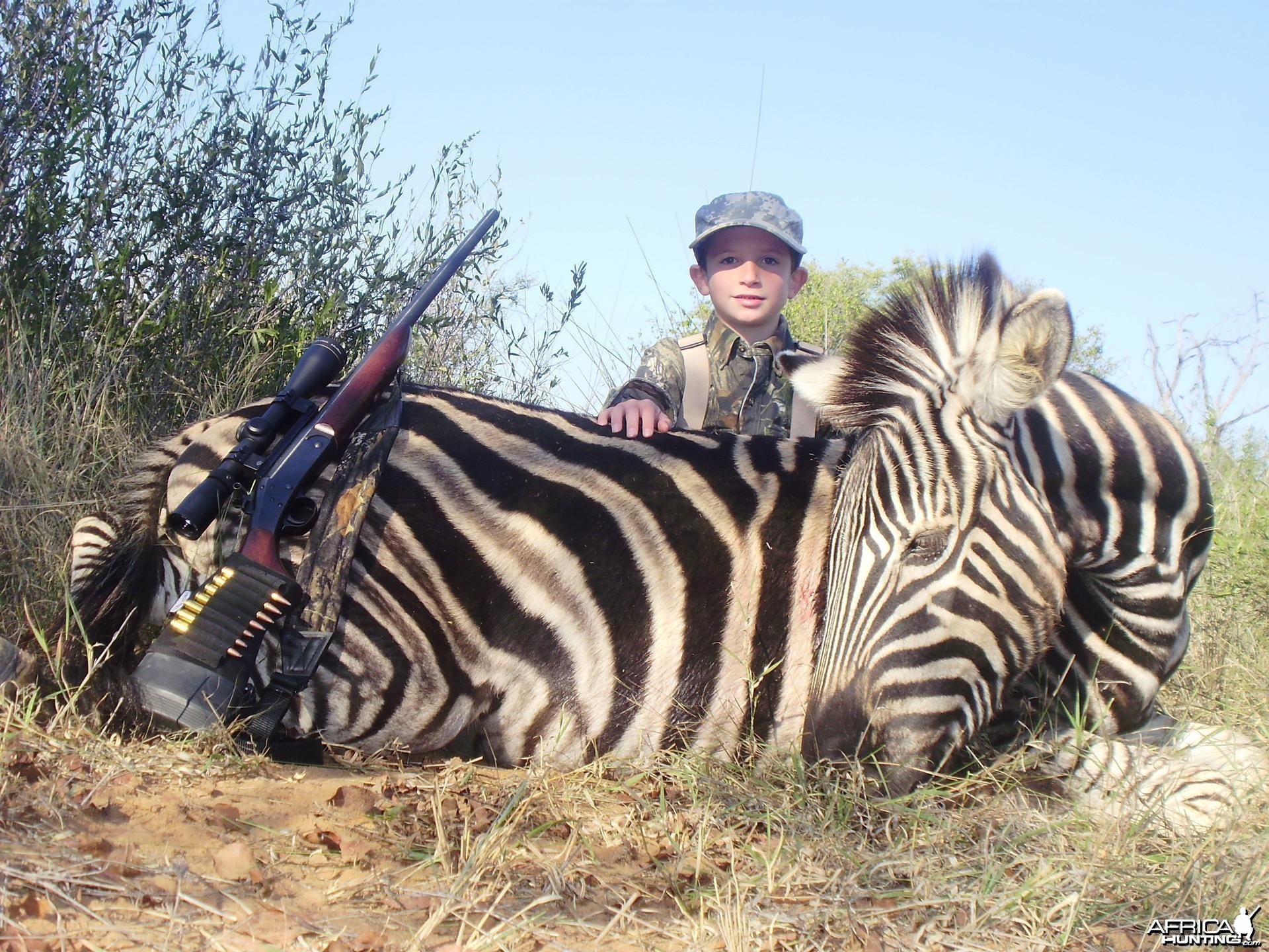 My son's first African animal he's was 7 at the time