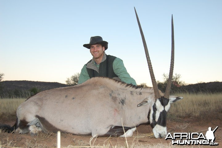 Hunting Gemsbok South Africa
