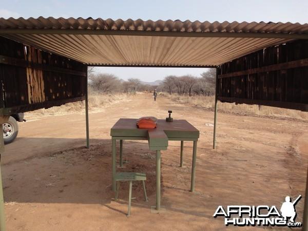 Shooting Range at Ozondjahe Hunting Safaris