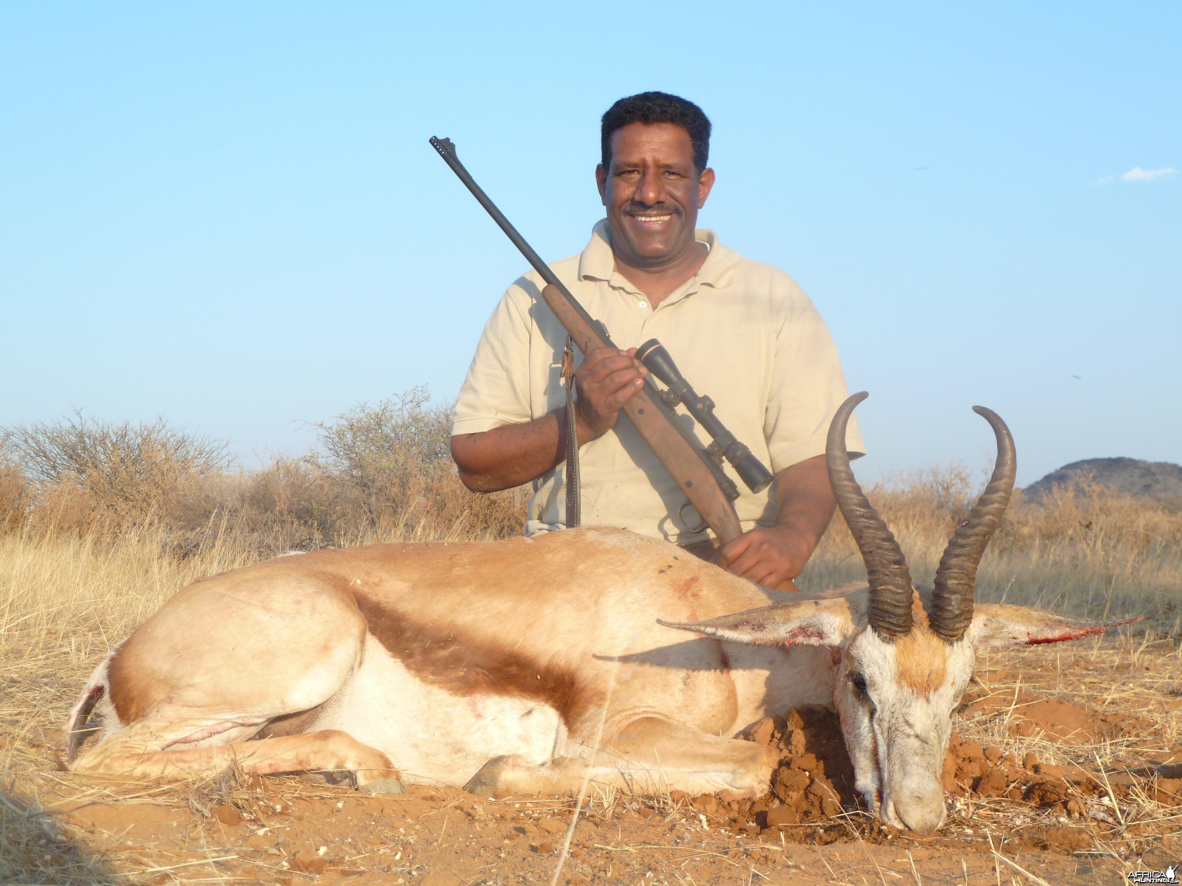 Hunting Springbok in Namibia
