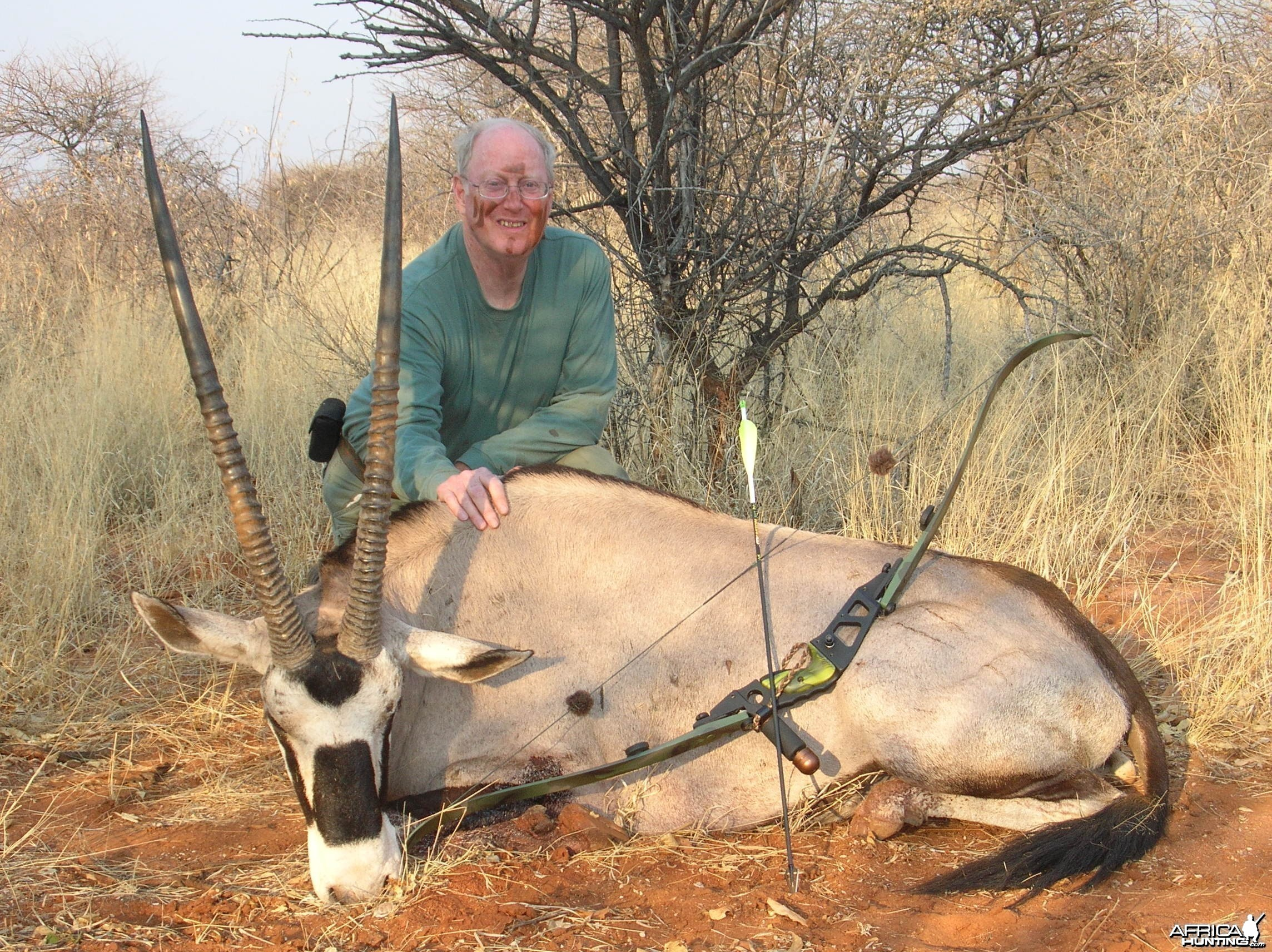 Bowhunting Gemsbok in Namibia