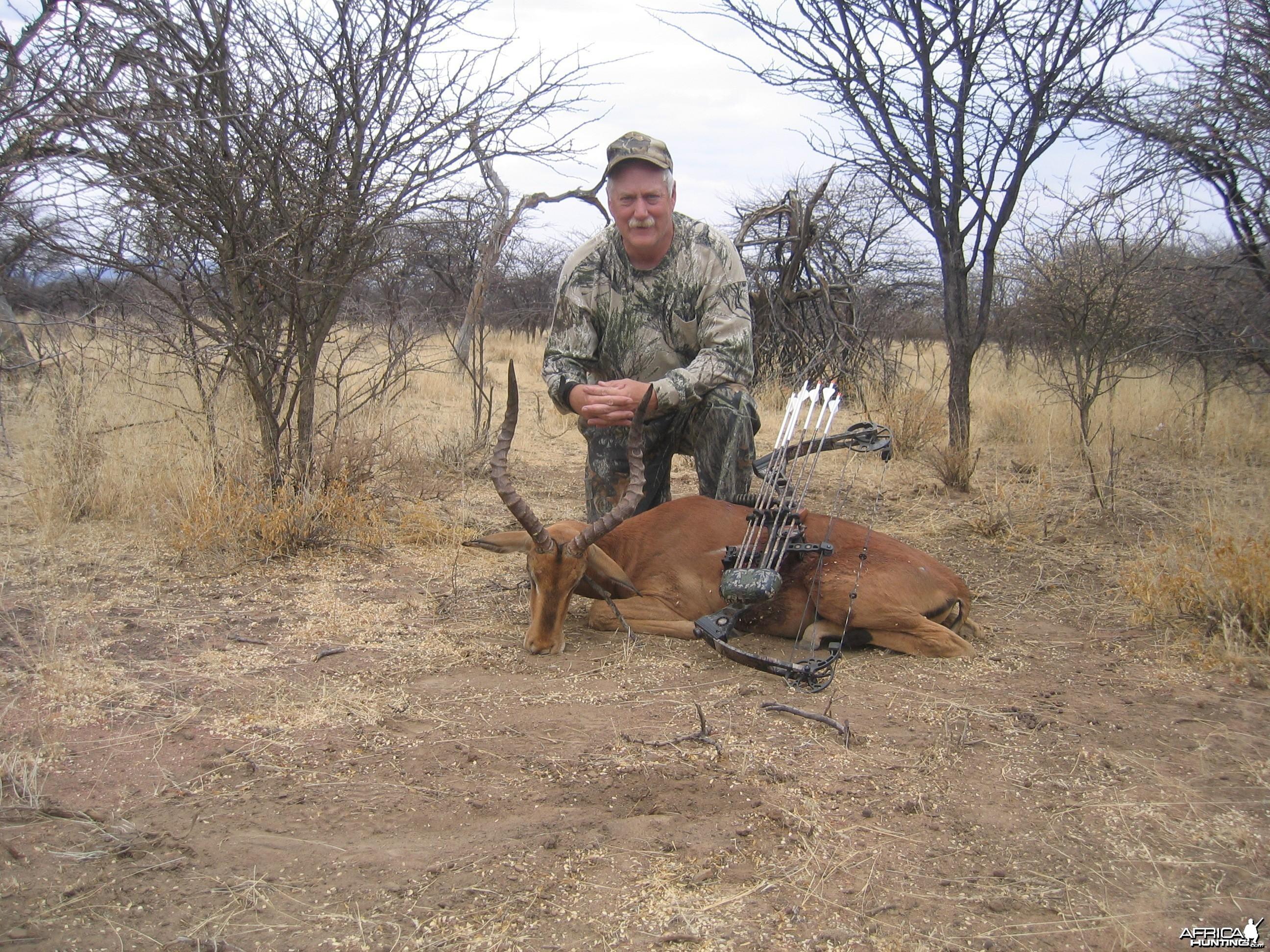 Bowhunting Impala in Namibia