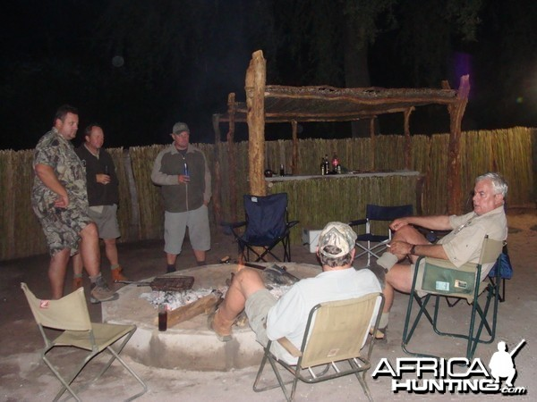 Around the camp fire in Gokwe South Concession Zimbabwe