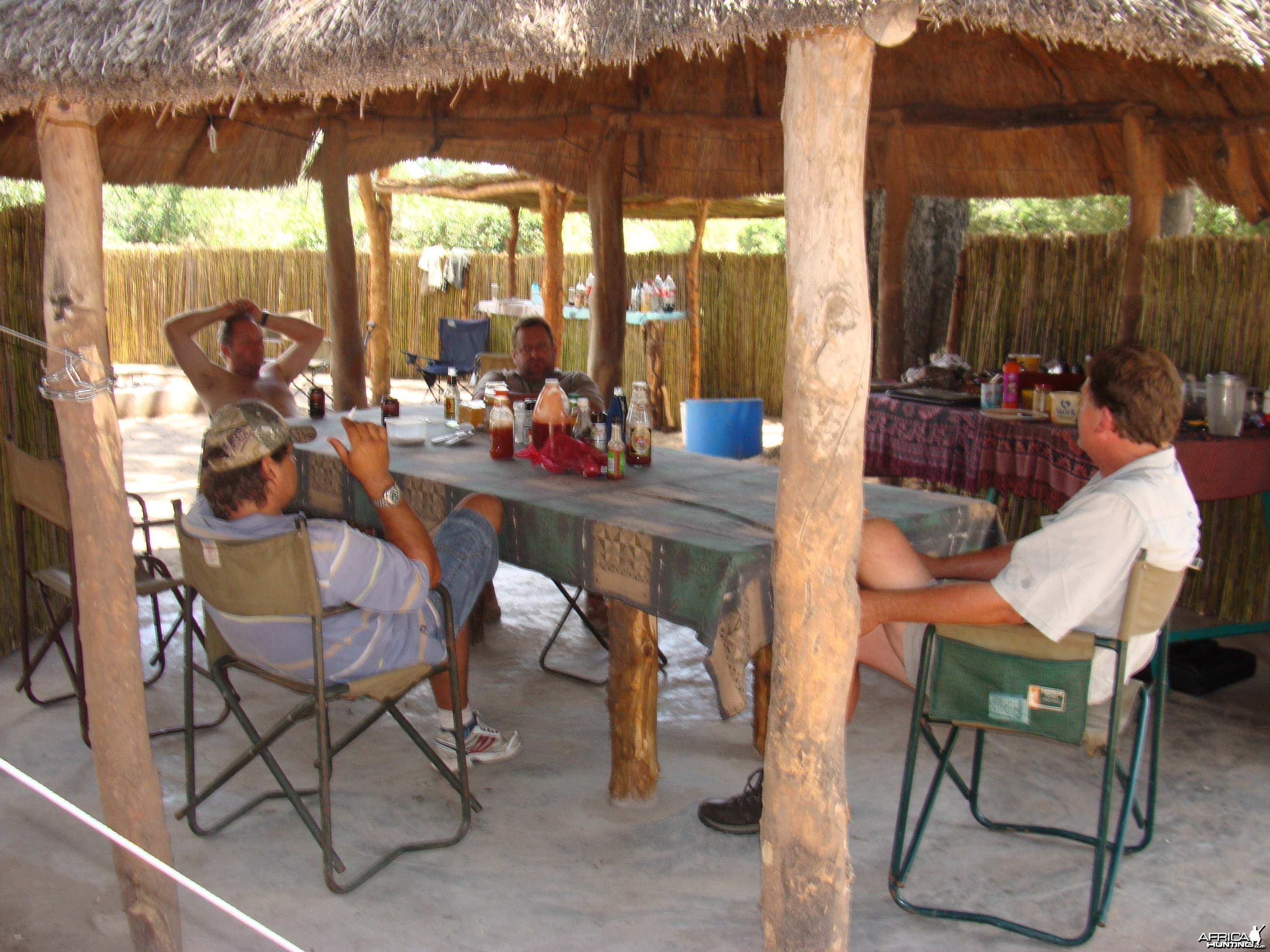 Around the table in Gokwe South Concession Zimbabwe