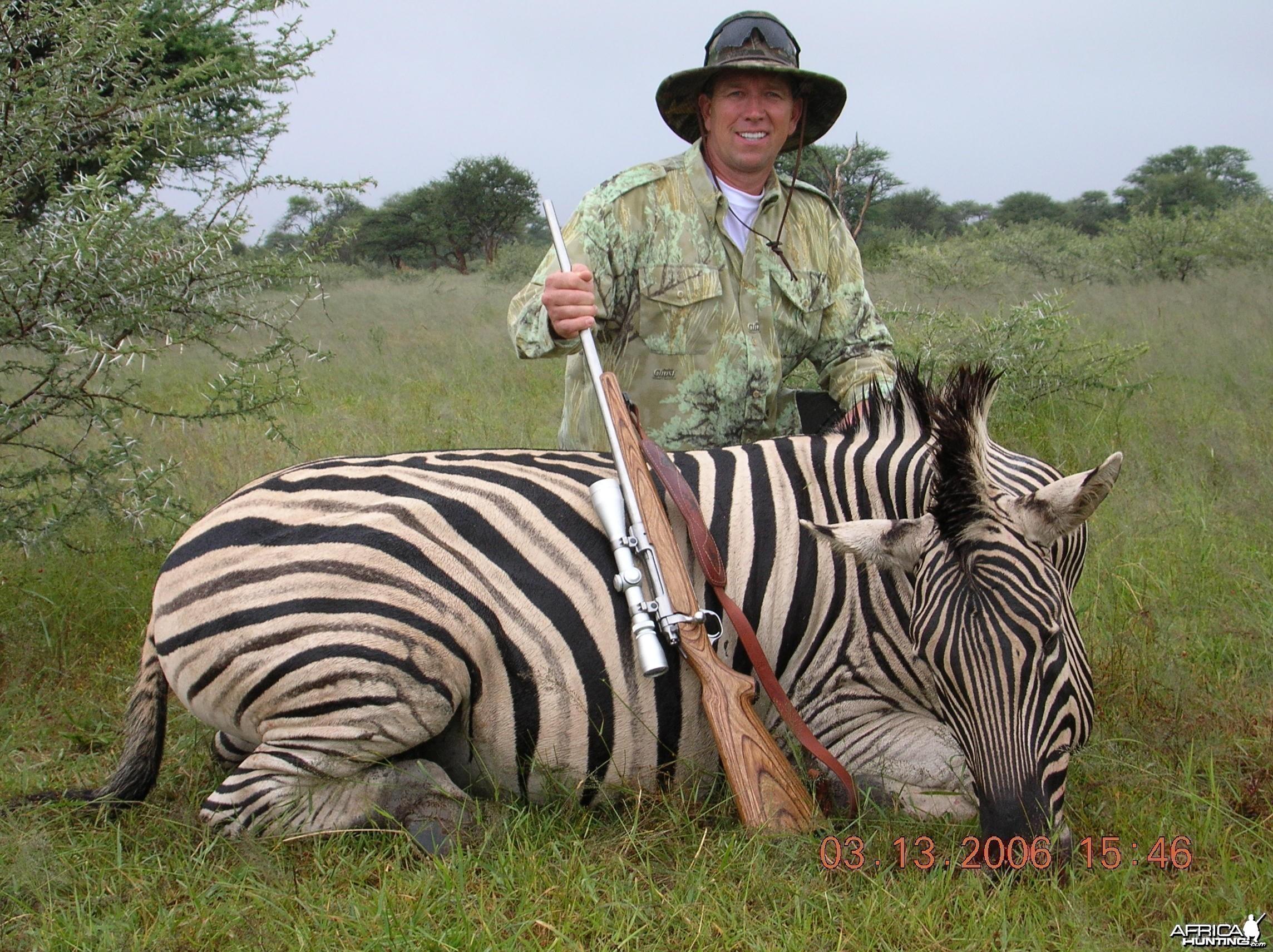 Hunting Burchell's Plain Zebra in Namibia