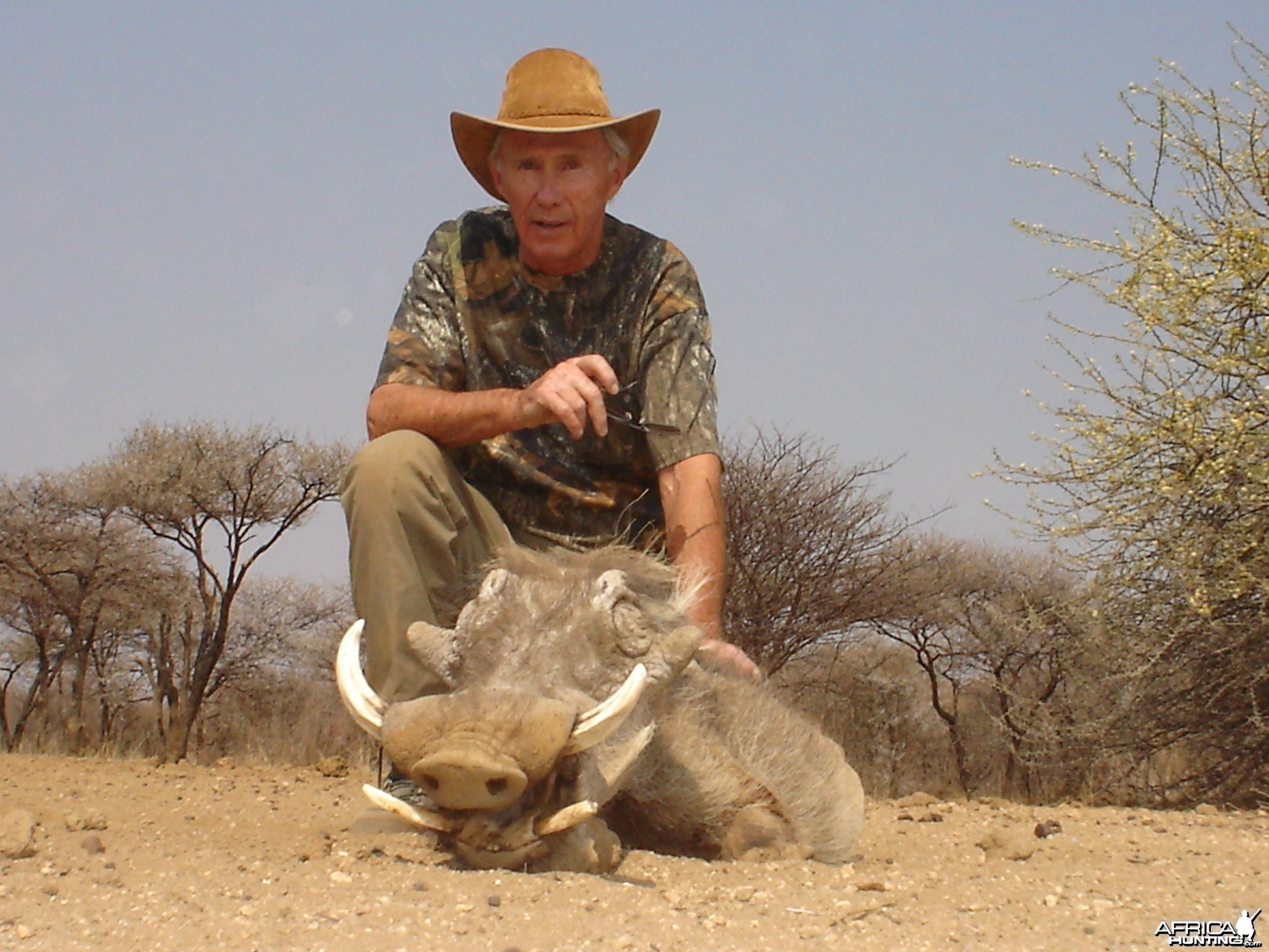 Hunting Warthog in Namibia