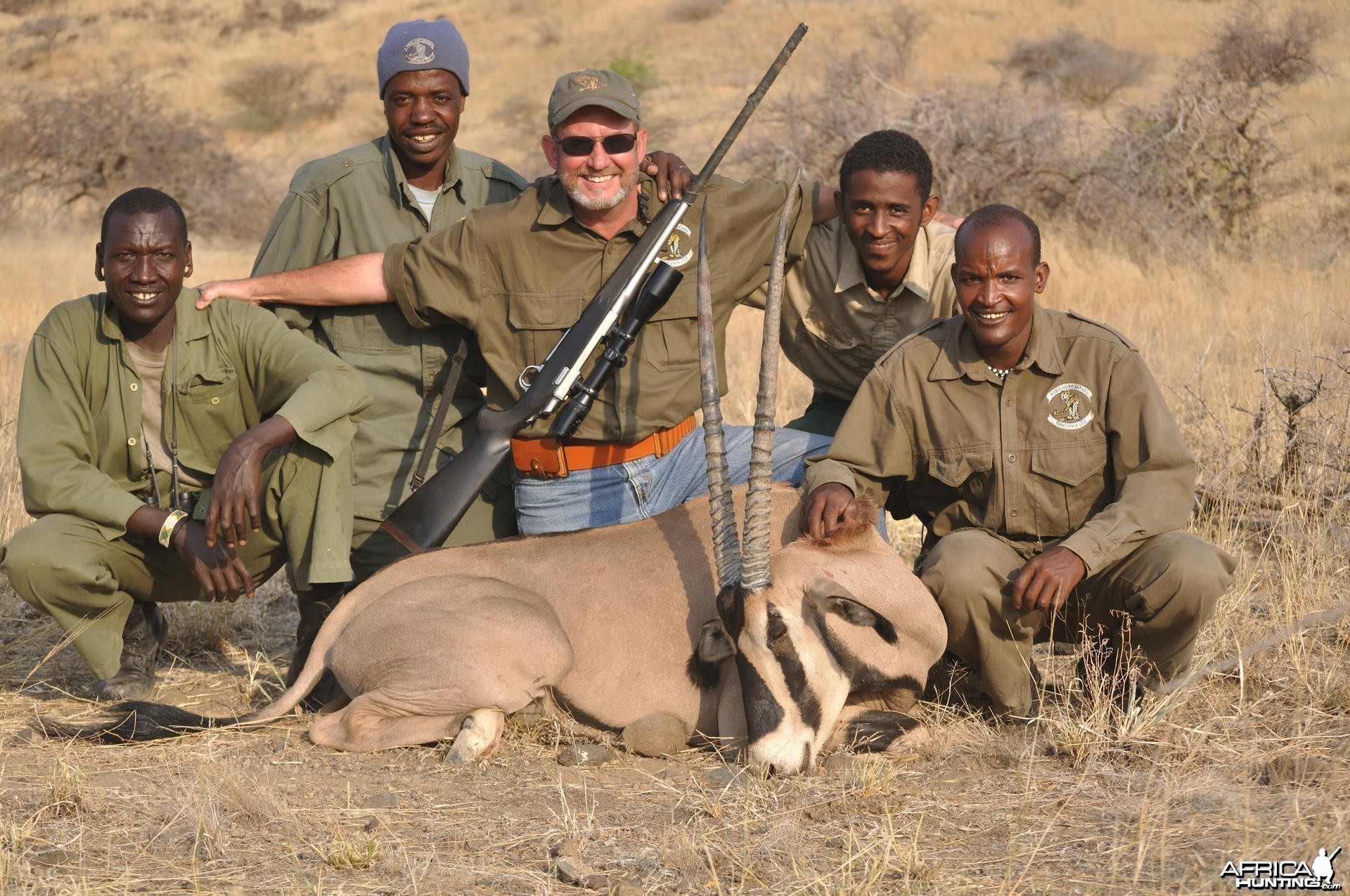 Hunting Finged Ear Oryx Tanzania