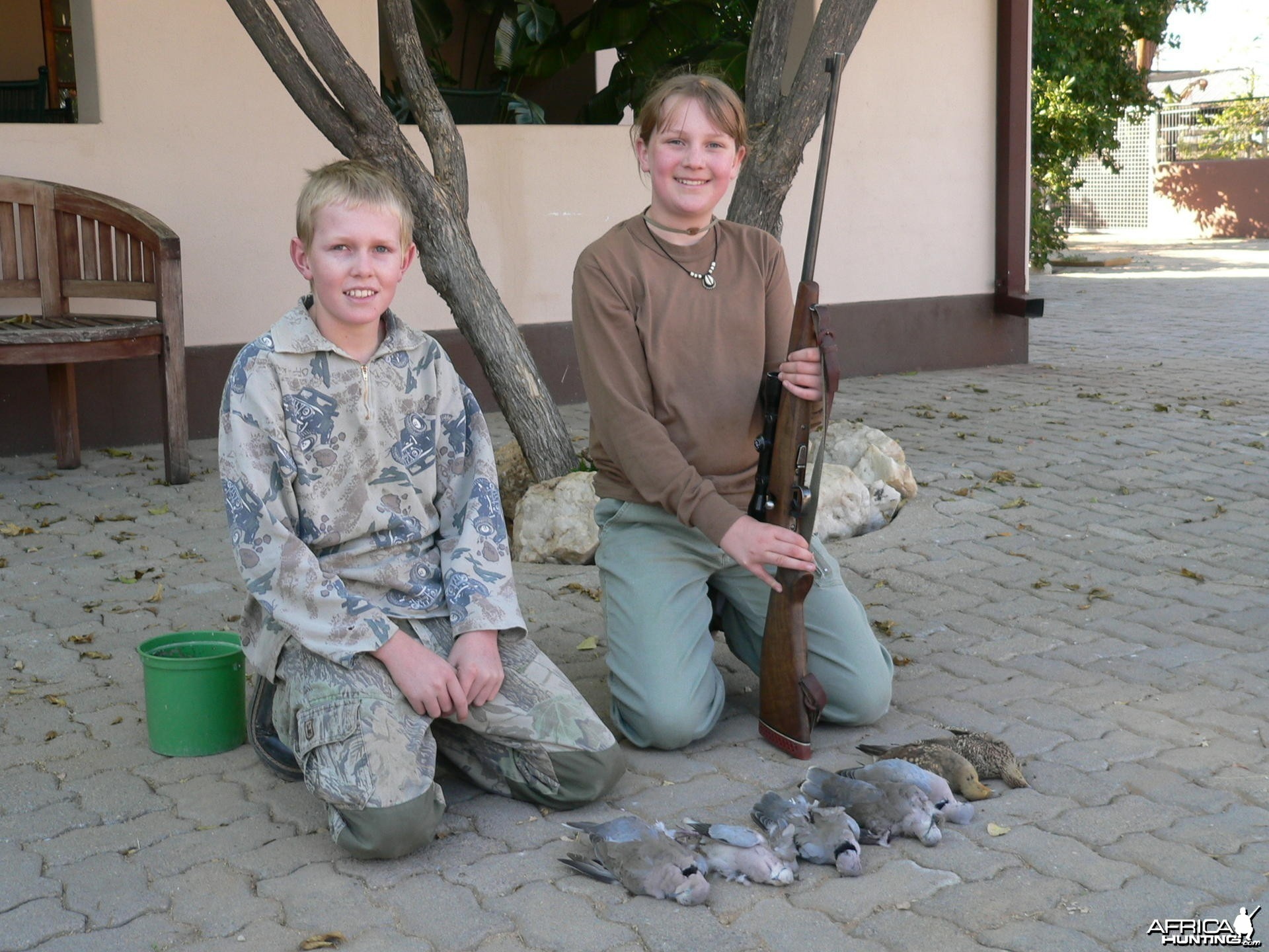 Her first hunt is in Africa