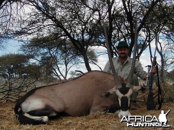 Hunting Gemsbok in Namibia