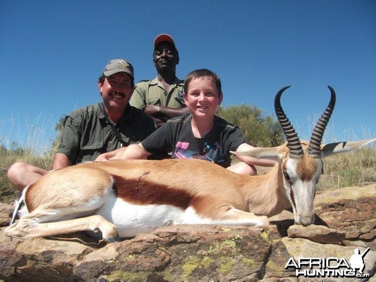 My 11 year old son and his first Springbuck