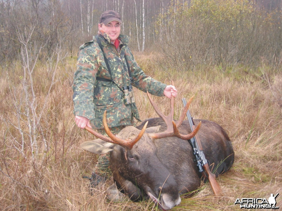 Hunting European Moose, Latvia 2008