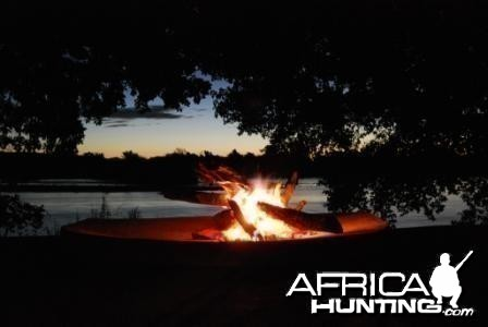 Campfire on the Limpopo River