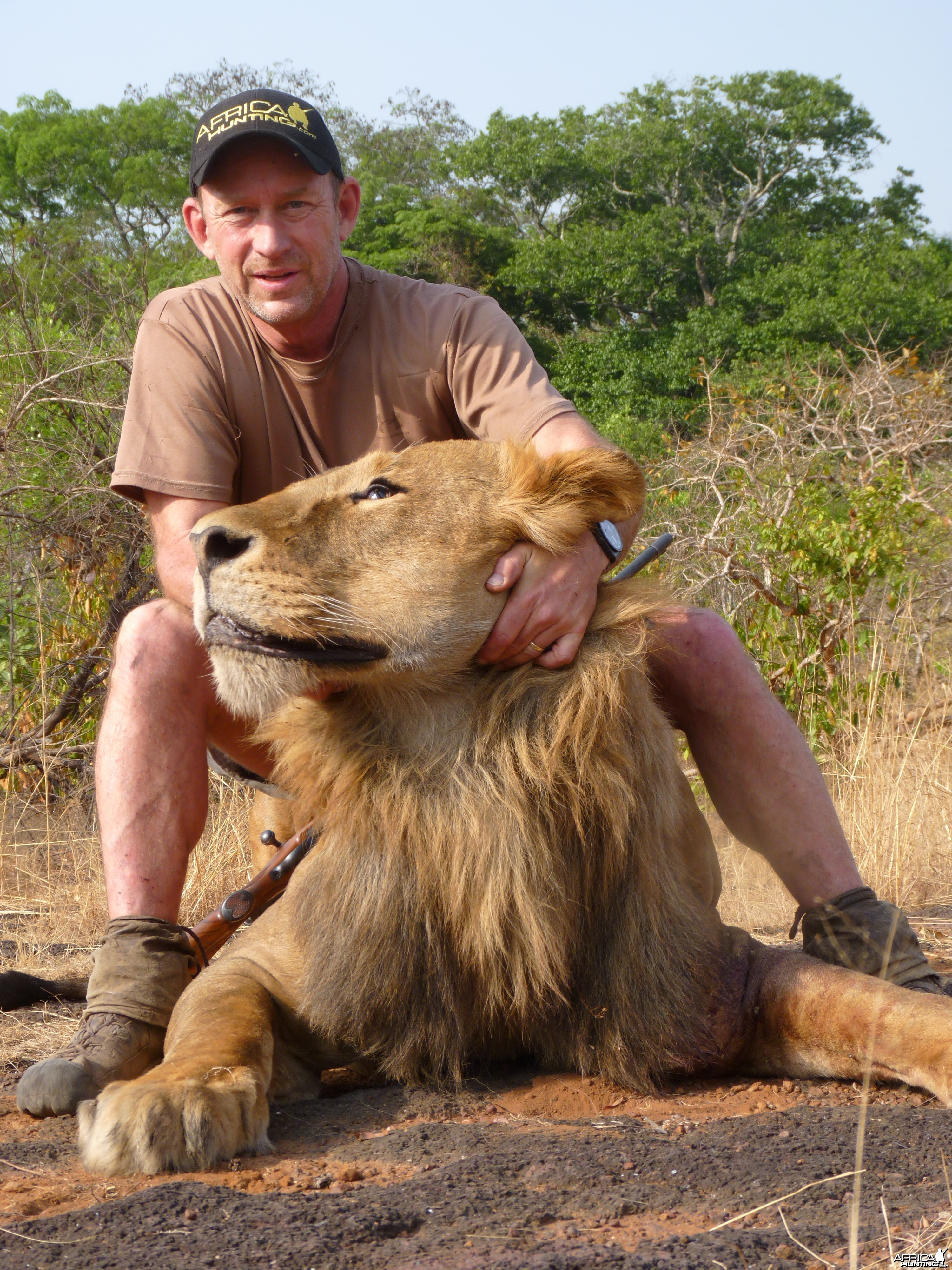 Hunting Lion in Central African Republic