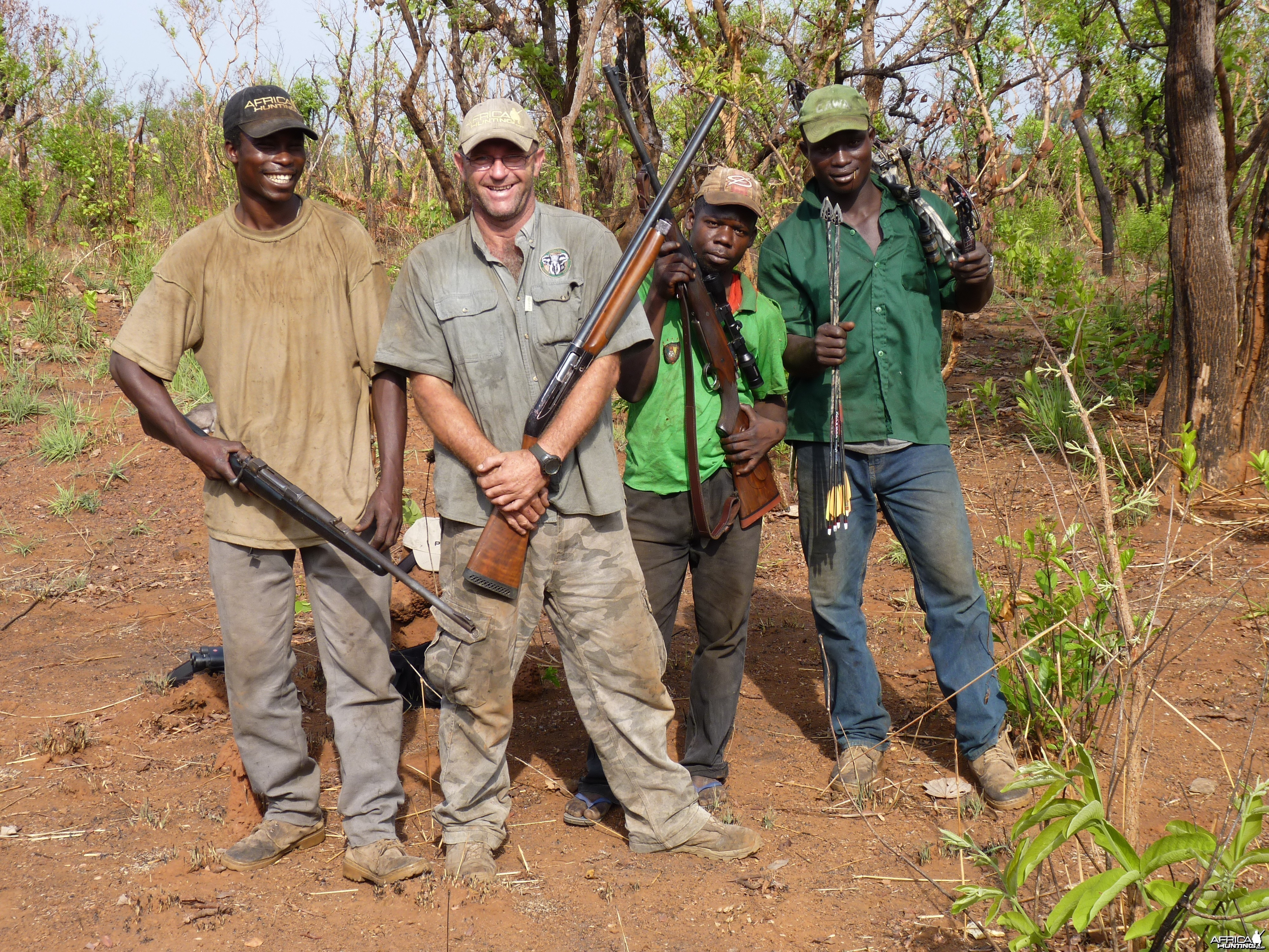 Hunting Team in Central African Republic
