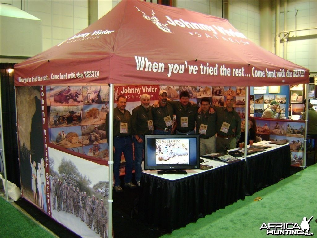 2010 SCI Booth of Wintershoek Johnny Vivier Safaris in South Africa