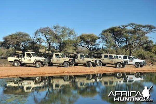 Hunting Vehicles - Wintershoek Johnny Vivier Safaris in South Africa